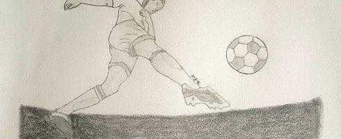 3eme de ma série de dessins football
