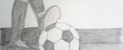 Dernier de ma série de dessins thème football