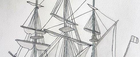 Ancien bateau à voiles